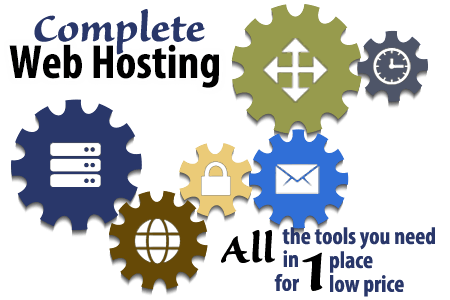 Complete Web Hosting - All the tools you need in 1 place for 1 low price